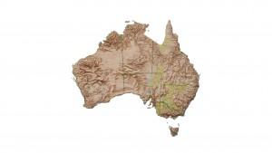 Carte d'Australie en relief