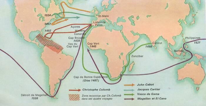 Les grandes explorations maritimes